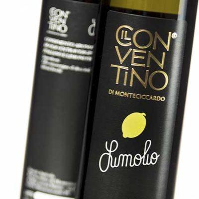 natives Olivenöl mit Zitronenaroma in 250ml Flasche