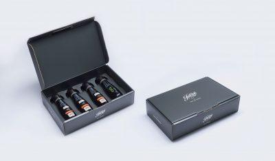 4 mal 100ml Flaschen Natives Olivenöl extra in Geschenkbox