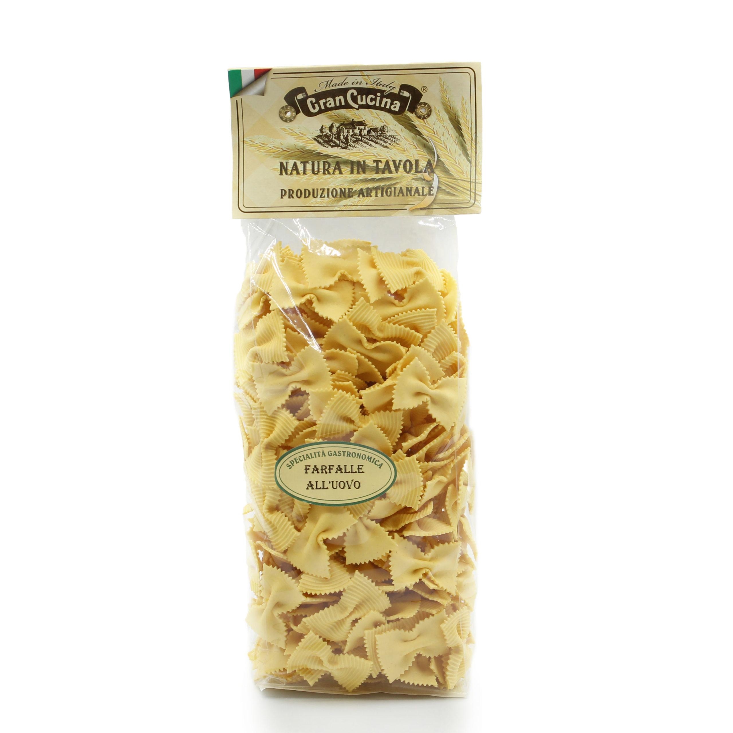 Farfalle All Uovo Gran Cucina Pasta Aus Piemont Italien