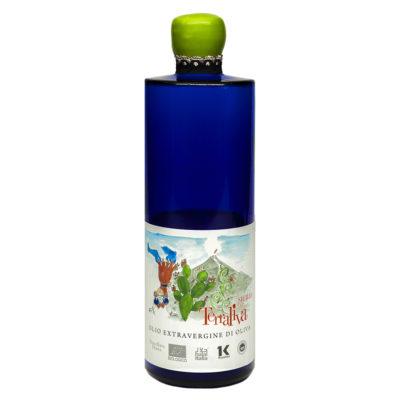 natives Olivenöl extra, biologisch, halal, koscher in 0,5l kobaltblauen Glasflasche