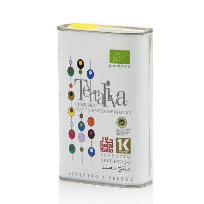 natives Olivenöl extra, biologisch, halal, koscher in 0,5l. Weißblech-Dose