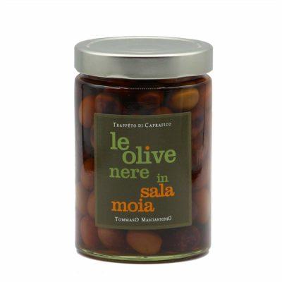 schwarze Oliven in Salzlake 350g Glas