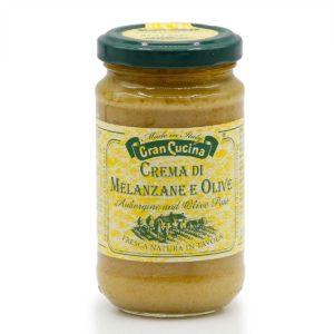 Créme aus Aubergine und Oliven in 180g Glas
