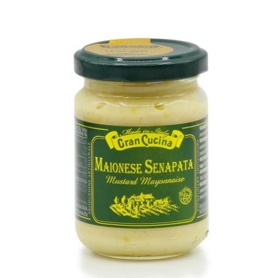 Mayonnaise mit Senf in 120g Glas