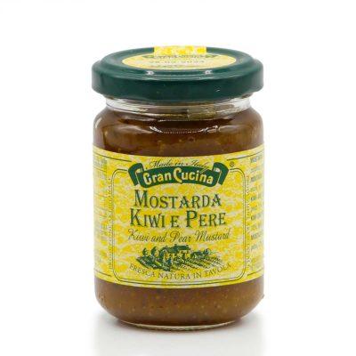 Senf aus Kiwi und Birne in 150g Glas