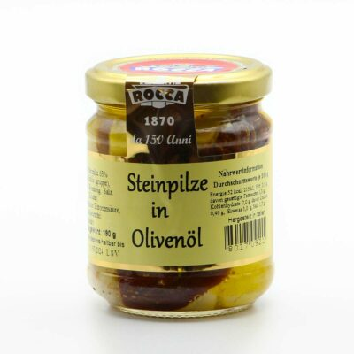 Rocca geschnittene Steinpilze in Olivenöl in 190g Glas