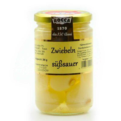 Rocca Zwiebeln süßsauer in 280g Glas
