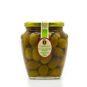 grüne Oliven in Salzlake in 560g Glaskrug