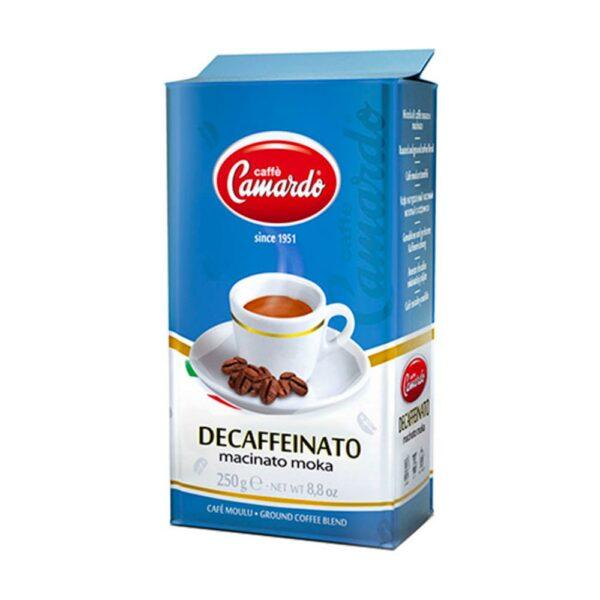 entkoffeinierter Kaffee in 250g vakuumverpackter Schutzfolie