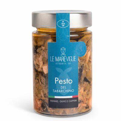 Pesto mit Thunfisch, Oliven, Kapern in 190g Glas