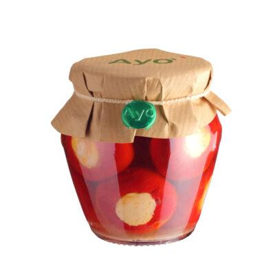 eingelegte, gefüllte Kirschpeperoni in 180g Schraubglas