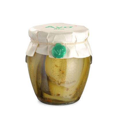 eingelegte Bio Zucchini in 180g Schraubglas
